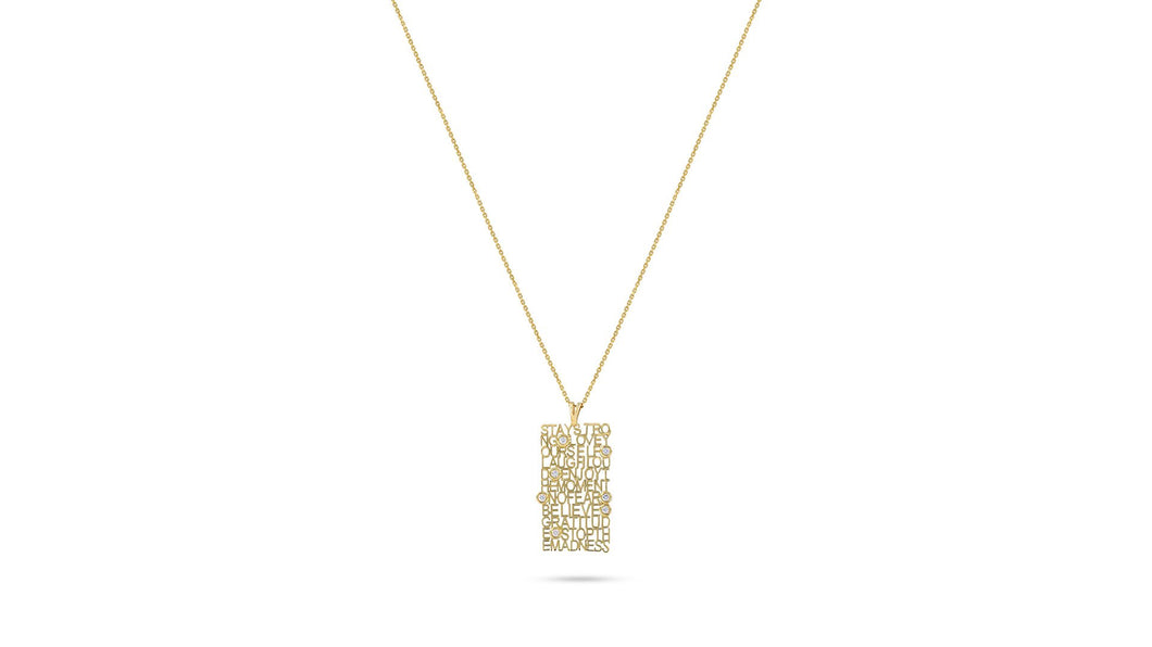 Words of Wisdom Necklace - meherjewellery