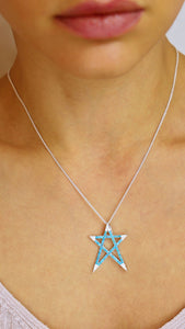 Star So Blue Necklace - meherjewellery