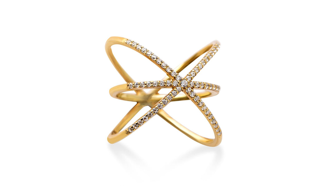 Kriss Kross: Diamod Ring - meherjewellery