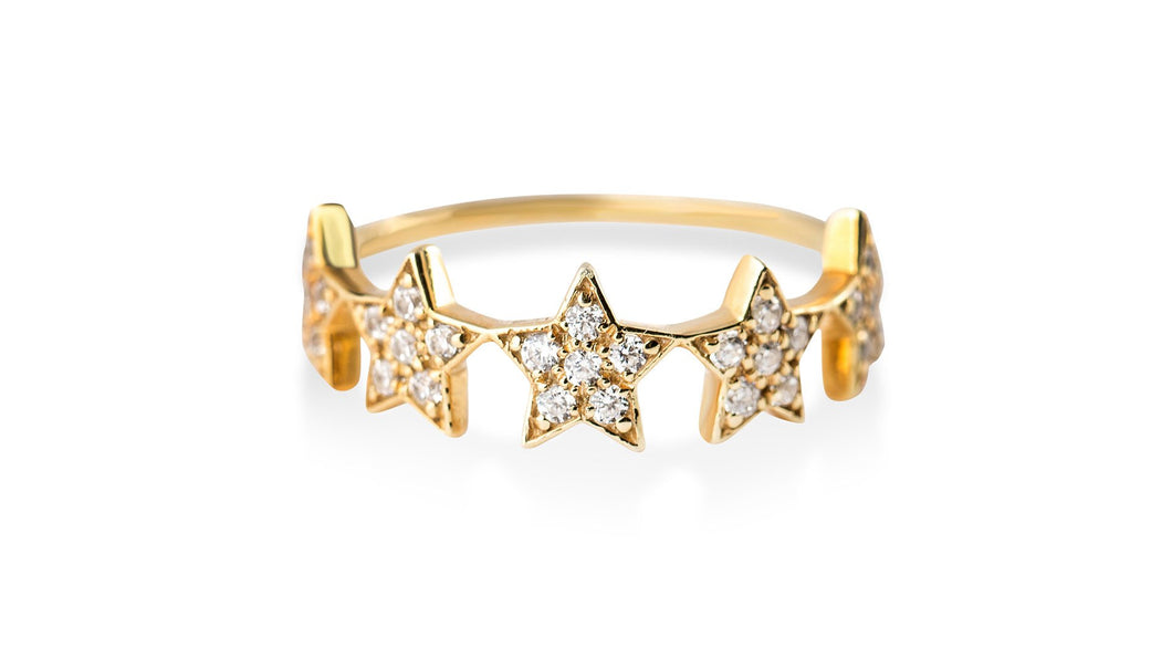 Star Burst: Diamond Ring - meherjewellery