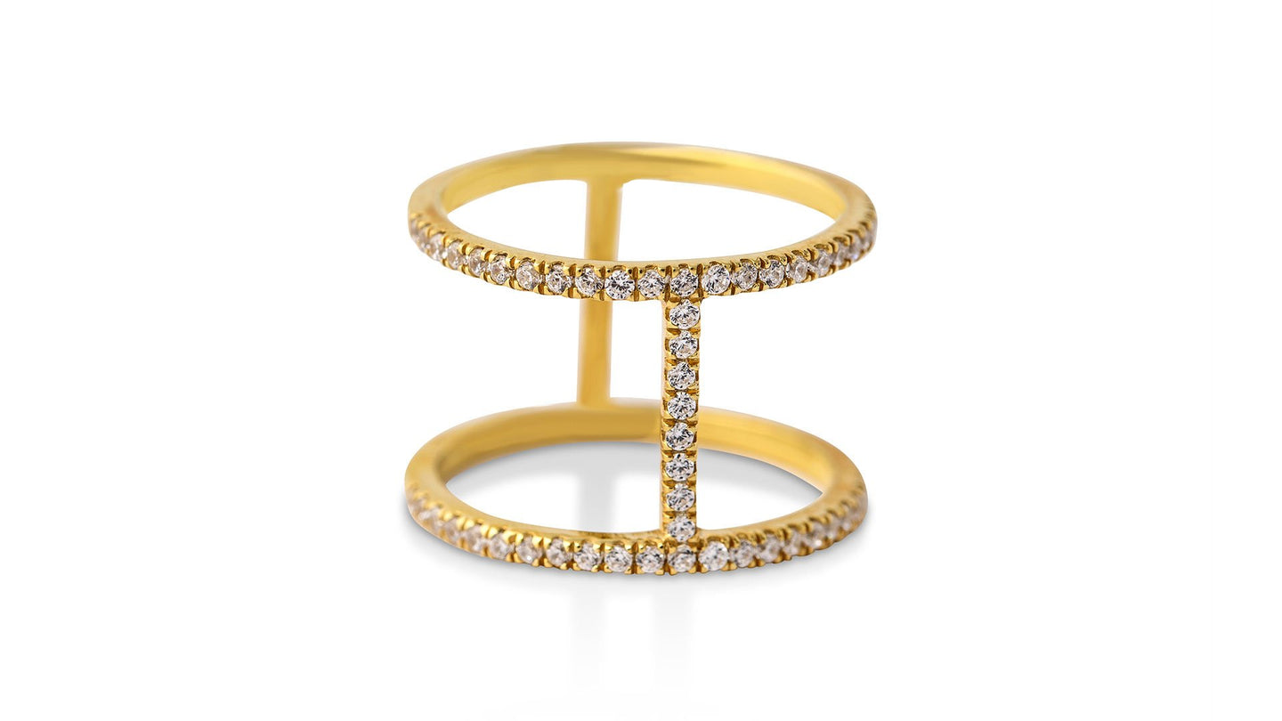 Full Diamond Bridge Ring