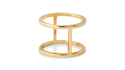Bridge in Time: Gold Ring - meherjewellery