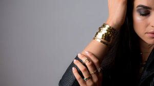 Definitively Yours Gold Cuff - meherjewellery