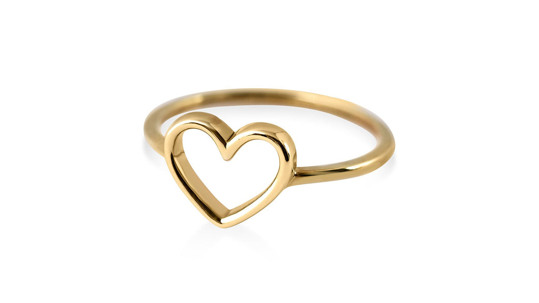 Beating Heart Gold Ring - meherjewellery