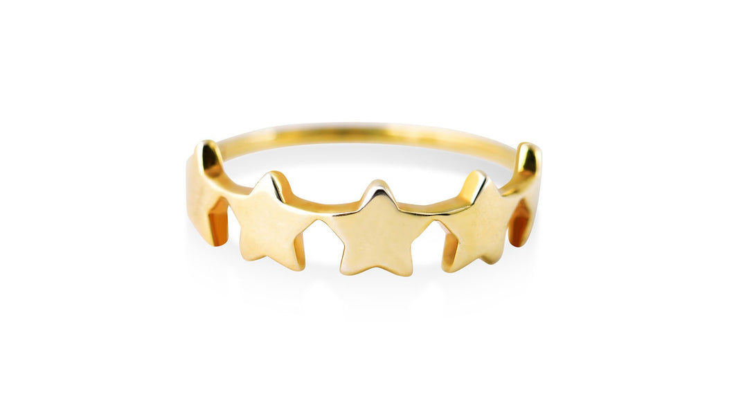 Star Burst: Gold Ring - meherjewellery