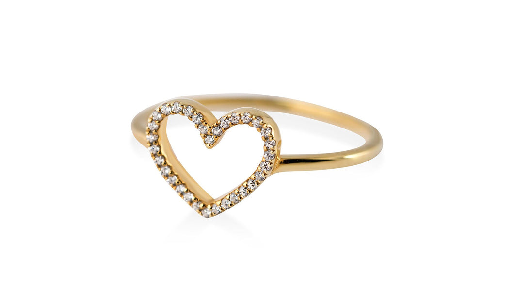 Beating Heart Diamond Ring - meherjewellery