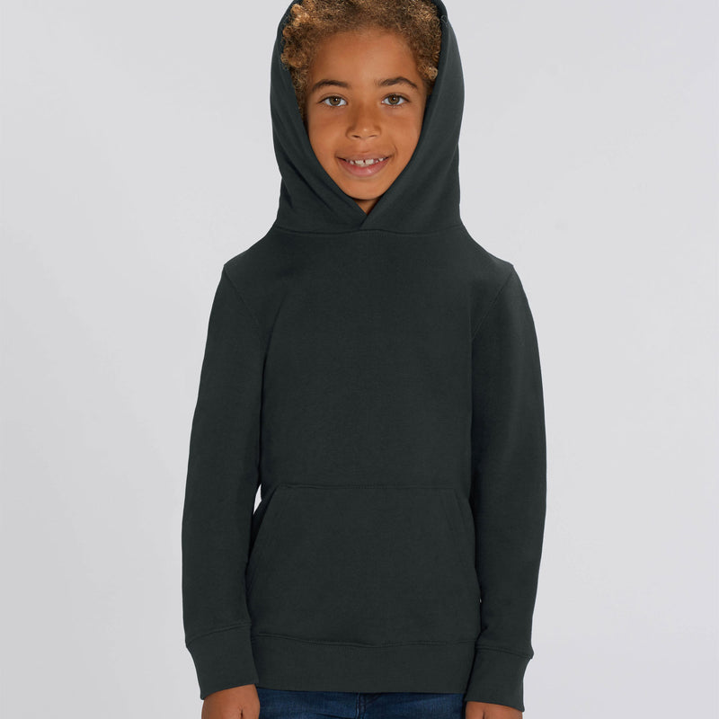 Vegan Personalised Black Boys Hoodie Front Stanley Stella Ireland