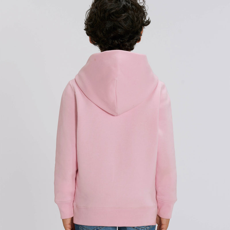 Vegan Fair Trade Recyclable Boys Hoodie in Cotton Pink Back