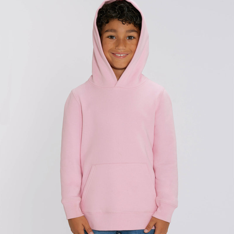 Personalized Boys Hoodie in Cotton Pink Stanley Stella