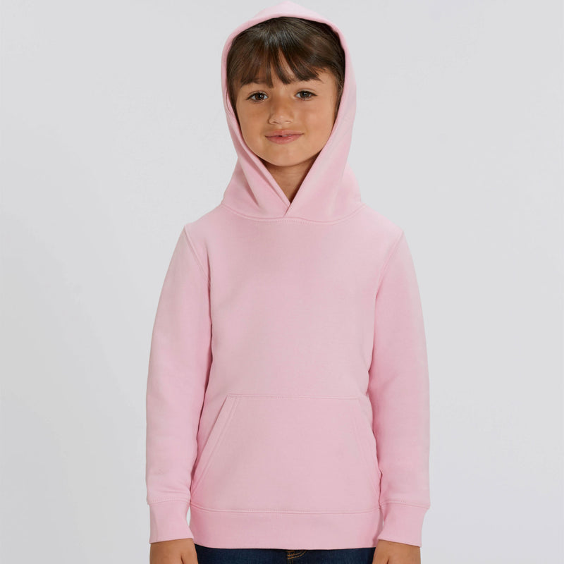 Vegan Persoanlised Cotton Pink Girls Hoodie Front Stanley Stella at Made Personal
