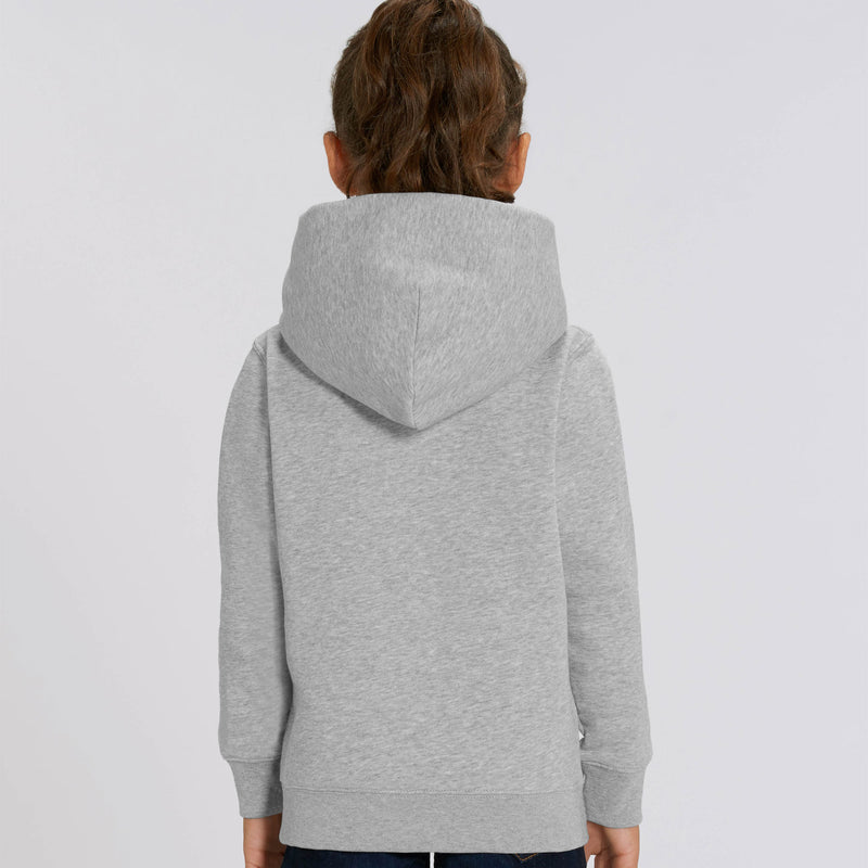 Personalised Vegan Girls Hoodie Back Heather Grey Stanley Stella