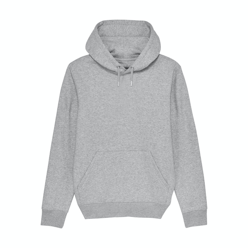 Personalised Mens Hoodie in Heather Grey from Stanley Stella Vegan Fair Trade and Recyclable
