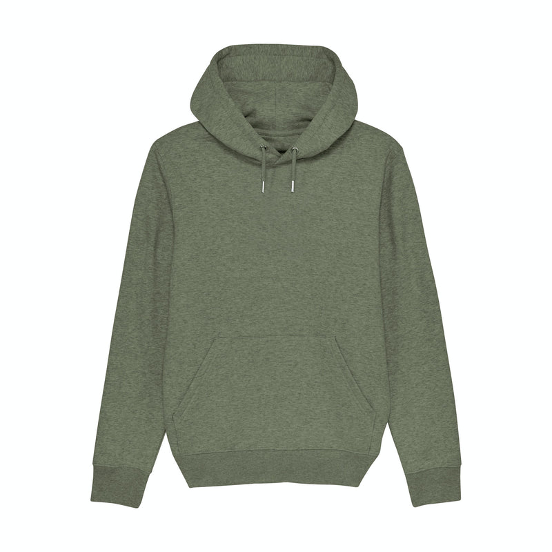 Personalised Mens Mid Heather Khaki Hoodie Sweatshirt Front