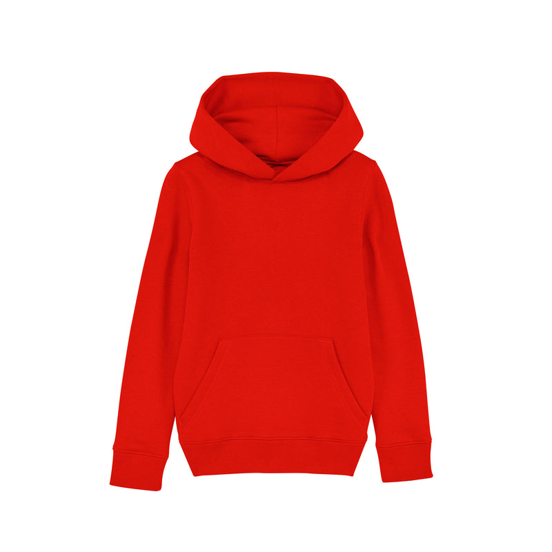 Personalised Vegan Bright Red Kids Sweatshirt Hoodie