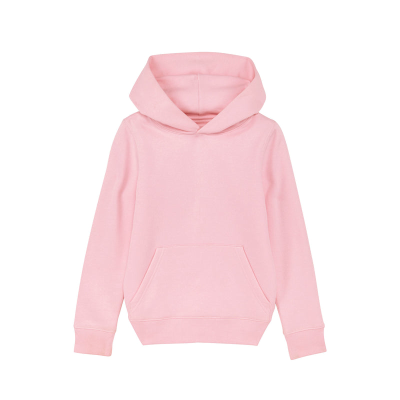 Vegan Persoanlised Cotton Pink Kids Hoodie Stanley Stella at Made Personal