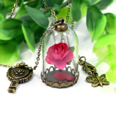 Rose Vial Necklace