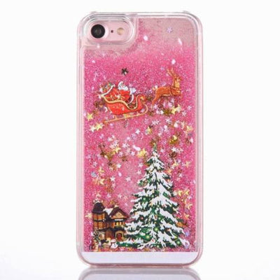3D Christmas Liquid Glitter Phone Case for iPhone