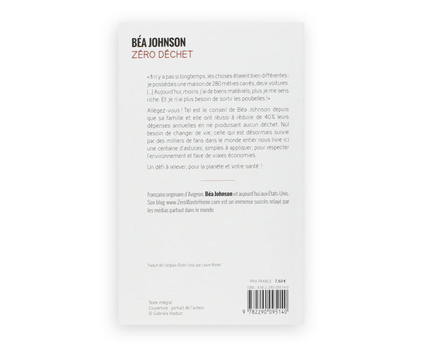 Back cover book zéro déchet by Bea Johson