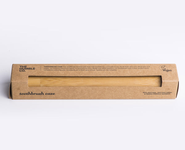 Humble Brush - Bamboo case for toothbrush, with packaging