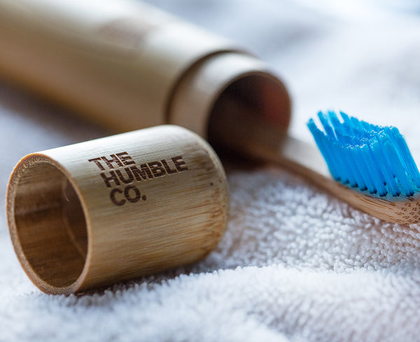 Humble Brush - Bamboo case for toothbrush, lifestyle picture