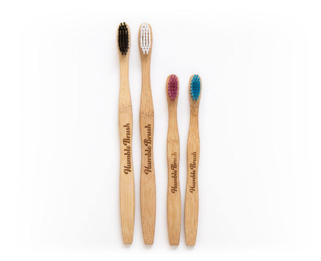 Family bamboo toothbrushes kit