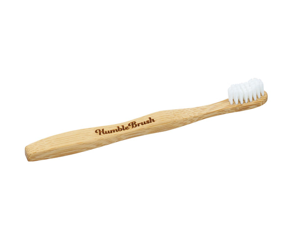 Kids white bamboo toothbrush