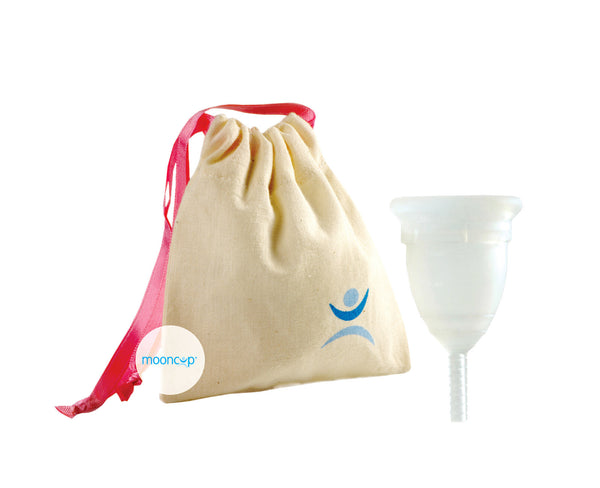 Mooncup menstrual cup with bag