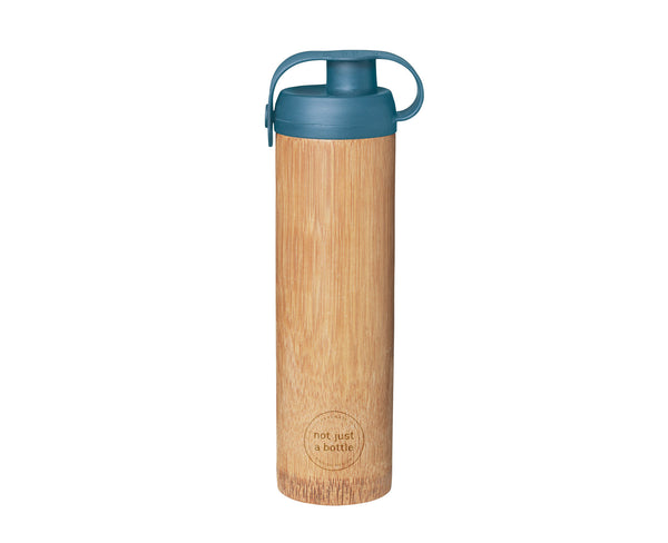 Bamboo bottle life blue color, brand Not Just Bamboo