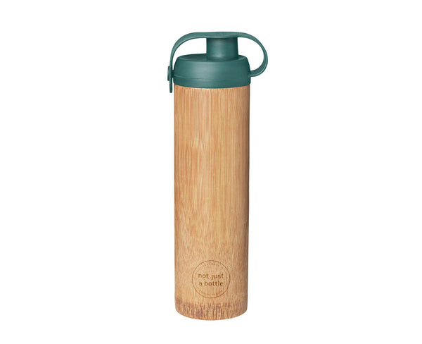 Bamboo bottle life green color, brand Not Just Bamboo