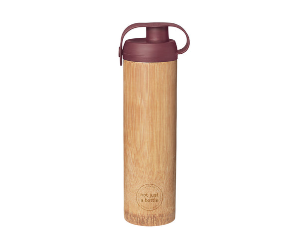 Bamboo bottle life red color, brand Not Just Bamboo