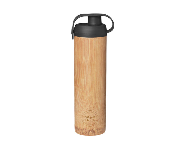 Bamboo bottle life black color, brand Not Just Bamboo