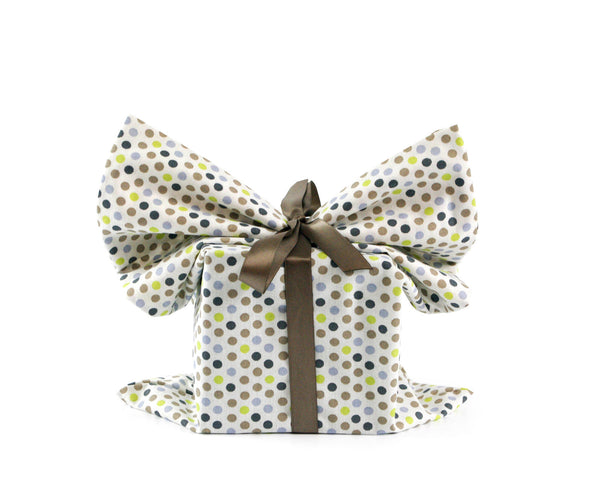Dots medium reusable gift wrap, Present Durable