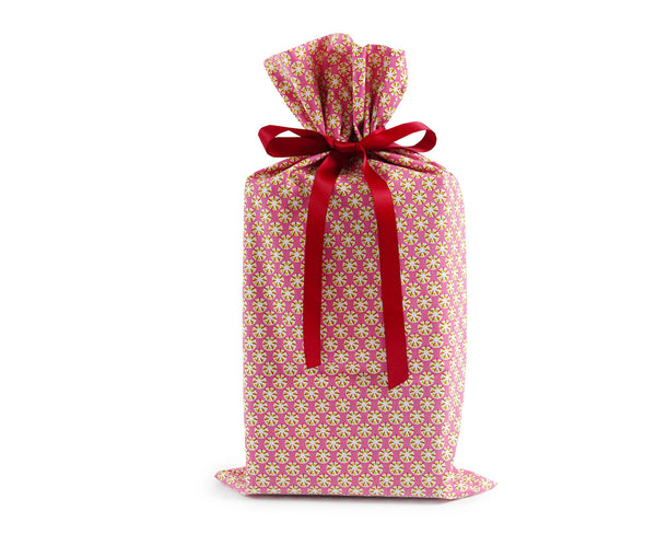 Pink large reusable gift wrap, Present Durable