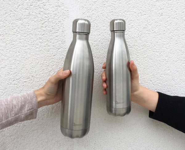 Vacuum insulated bottle 750ml, Qwetch, with other bottle
