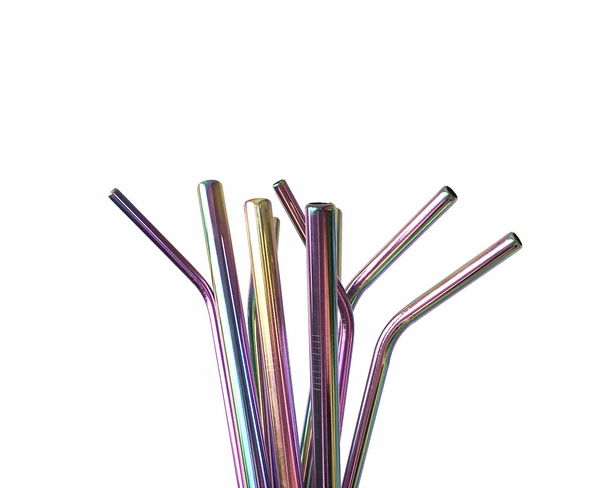 8 metal straws + 2 cleaners