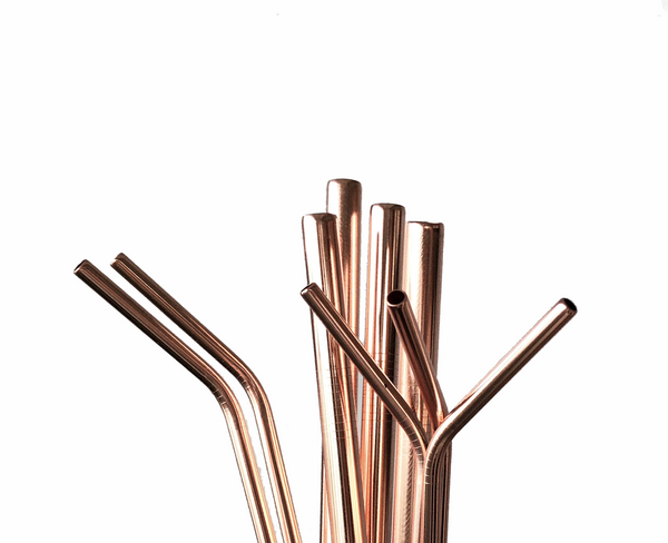 Rose Gold stainless steel straw