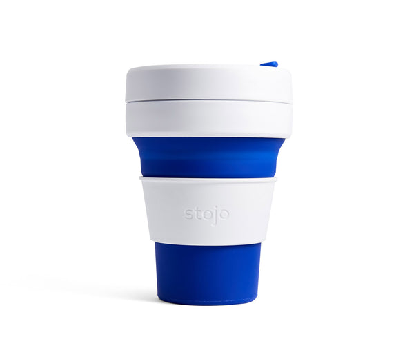 Collapsible cup, blue