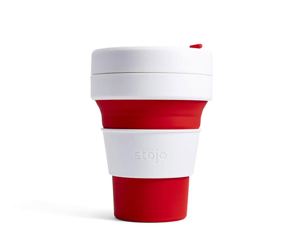 Collapsible cup, red