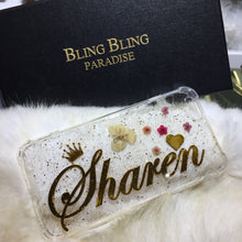 NEW!!! Personalized Name - Hard Glitters Gel Golden Name Design