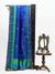 Inky Blue Color Antique Zari Broad Border Pure Tussar Silk Banarasi Saree - Sacred Weaves