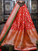 Gorgeous Red Color Sona Rupa Pure Katan Silk Banarasi Saree- Sacred Weaves