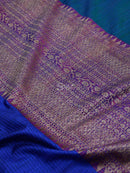Multi Color Antique Zari Pure Dupion Silk Banarasi Saree - Sacred Weaves