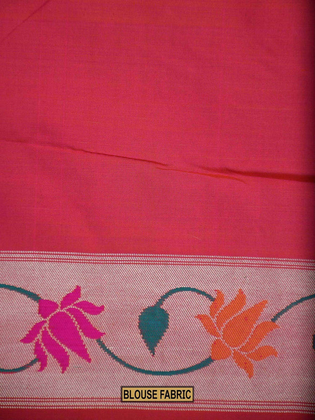 Beautiful Pink Color Paithani Design Pure Katan Silk Banarasi Saree - Sacred Weaves