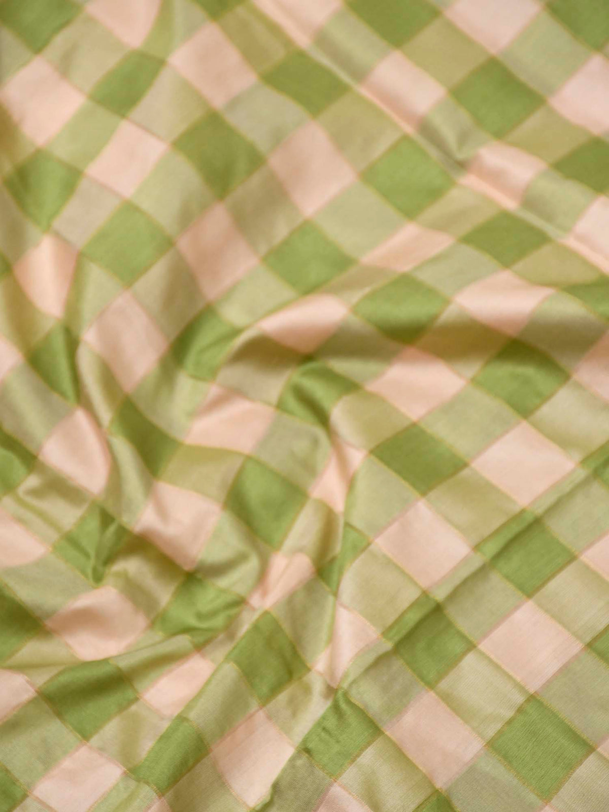 Green - Beige Katan Silk Handloom Banarasi Saree - Sacred Weaves