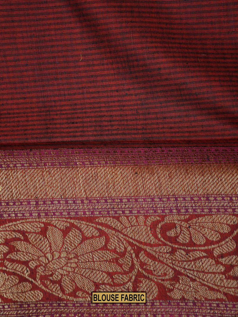 Stunning Black Color Antique Boota Zari Pure Dupion Silk Banarasi Saree - Sacred Weaves