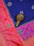 Royal Blue Color Uppada Pure Katan Silk Banarasi Saree - Sacred Weaves