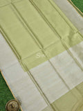 Pista Green Color Zari Broad Border Pure Tissue Banarasi Saree - Sacred Weaves
