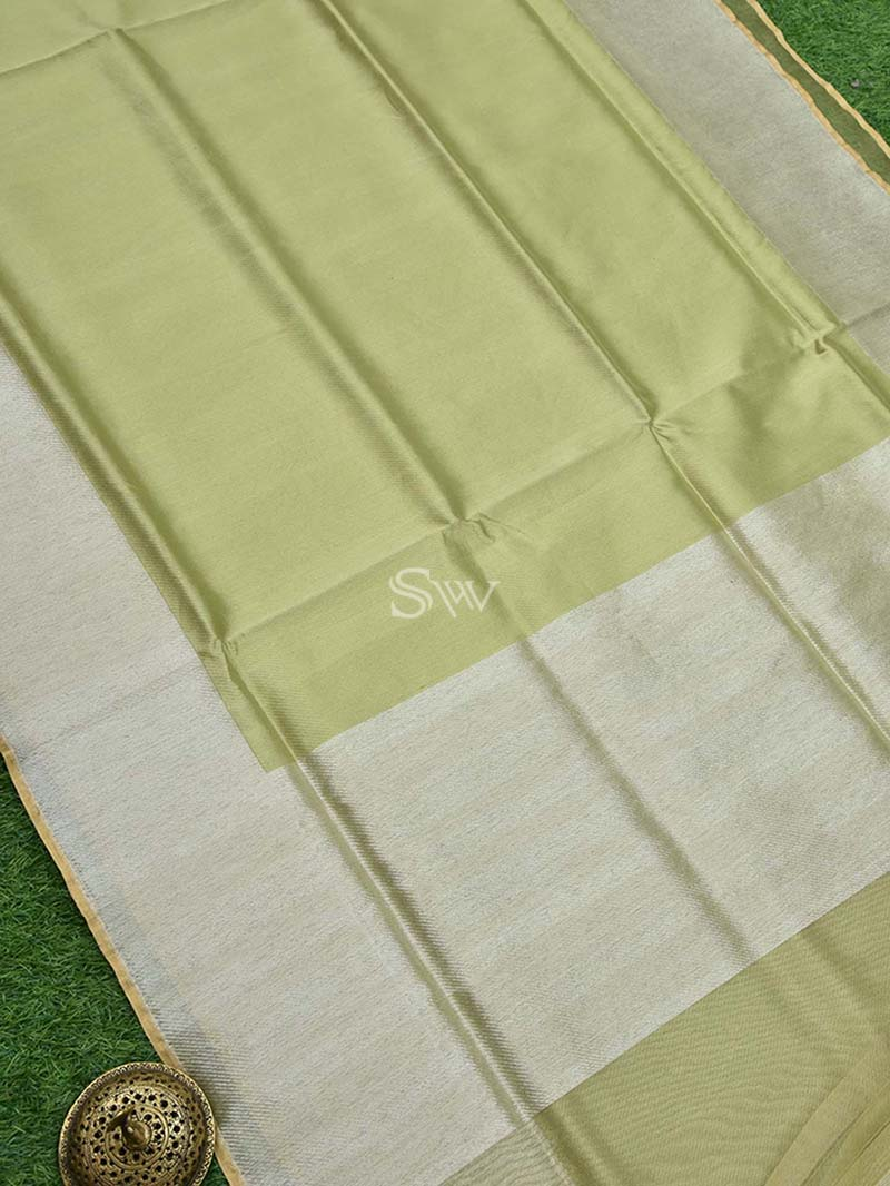 Pista Green Tissue Handloom Banarasi Saree - Sacred Weaves
