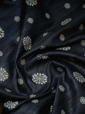 Grey Color Chikankari Resham Boota Pure Tussar Silk Banarasi Saree - Sacred Weaves