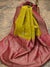 Mustard Yellow Color Floral Broad Border Pure Tussar Silk Banarasi Saree - Sacred Weaves